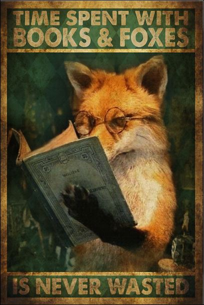 Time spent with books and foxes is never wasted poster