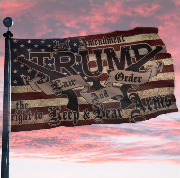 Trump law and order American flag