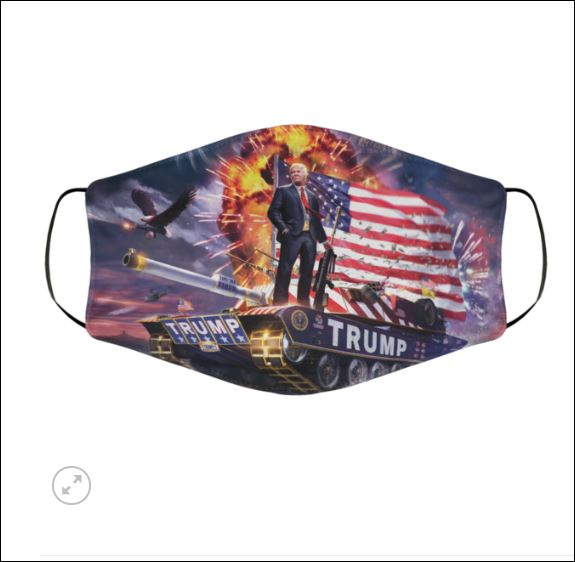 Trump tank face mask