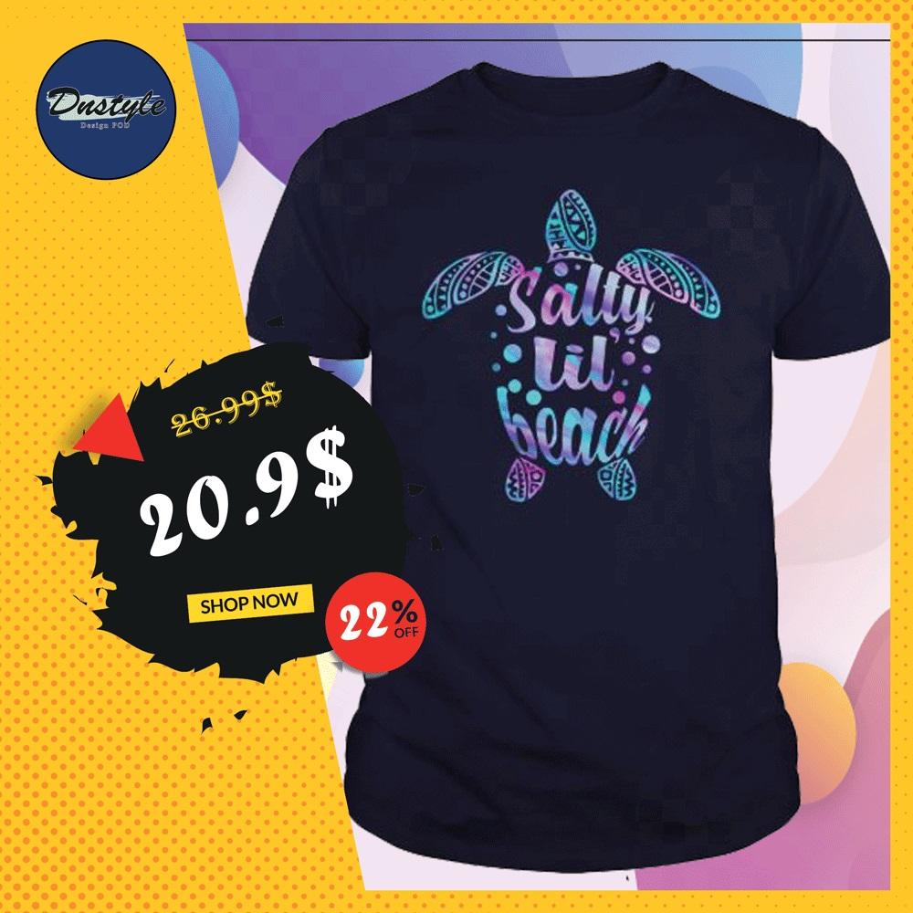Turtle salty lil beach shirt