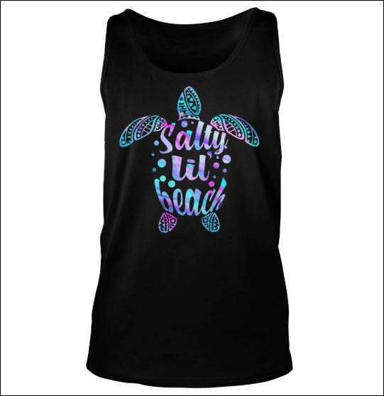 Turtle salty lil beach tank top