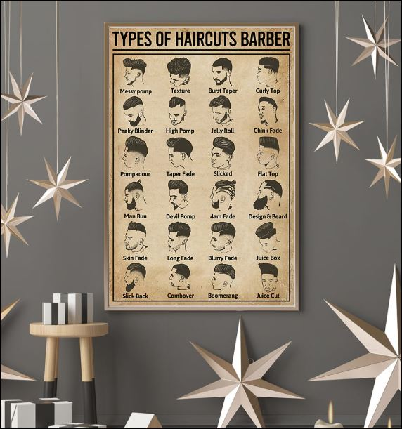 Types of haircuts barber poster 3