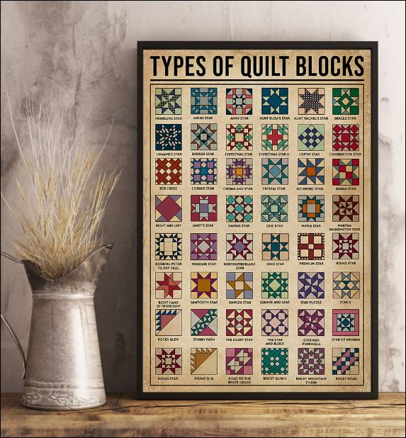 Types of quilt blocks poster 1