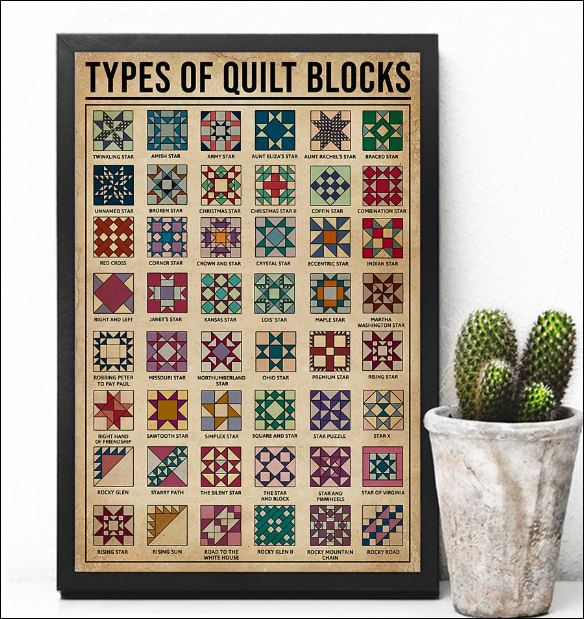 Types of quilt blocks poster 2