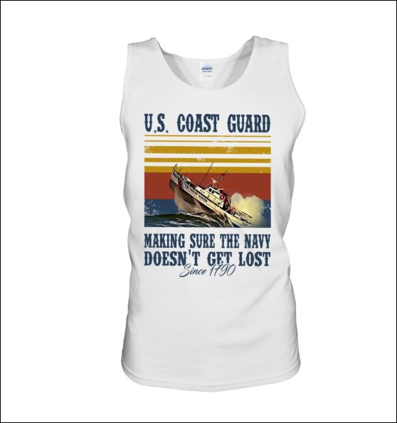US coast guard making sure the navy doesn't get lost since 1190 tank top