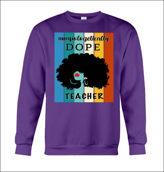 Unapologetically dope teacher vintage sweater
