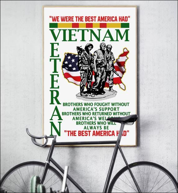 We were the best America had Vietnam veteran poster 2