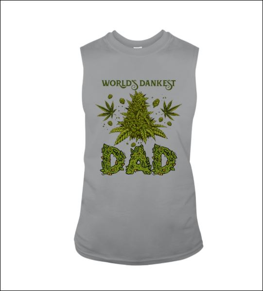 Weed world's dankest dad tank top