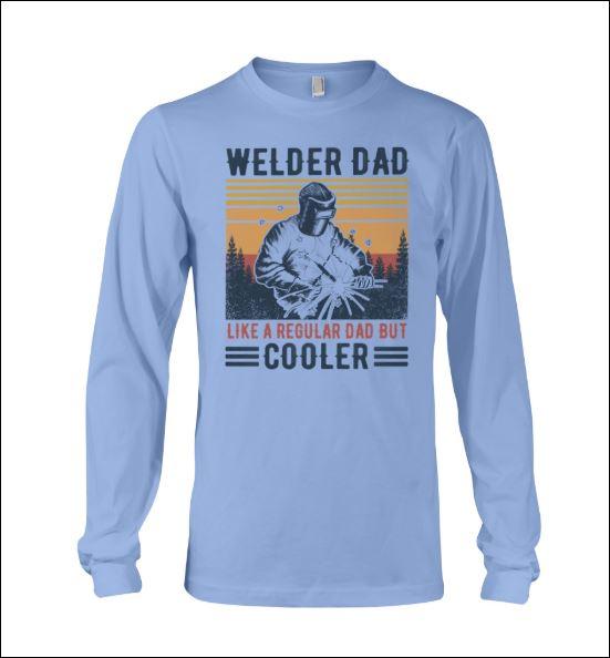 Welder dad like a regular dad but cooler vintage long sleeved