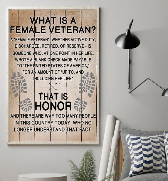 What is a female veteran poster 1