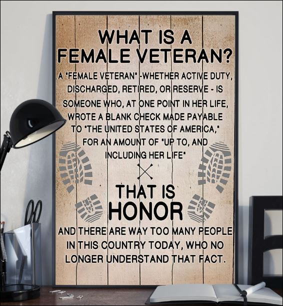What is a female veteran poster 2