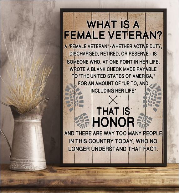 What is a female veteran poster 3