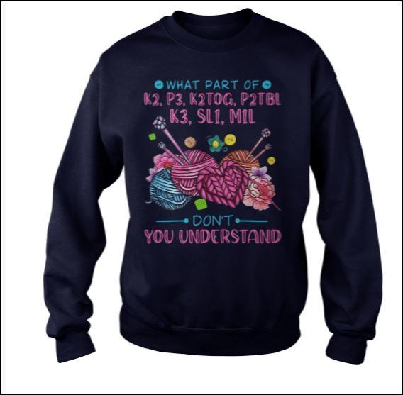 What part of k2 p3 k2tog p2tbl k3 sl1 m1l don't you understand sweater