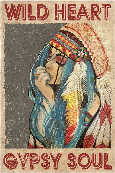 Wild heart gypsy soul poster