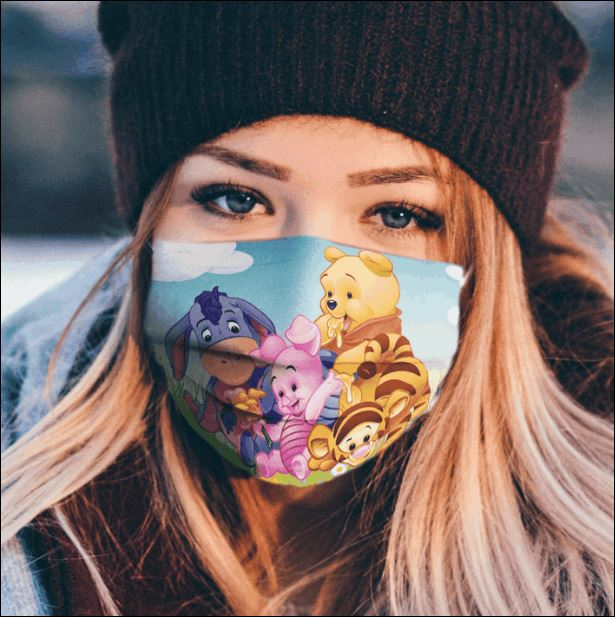 Winnie The Pooh cartoon characters face mask