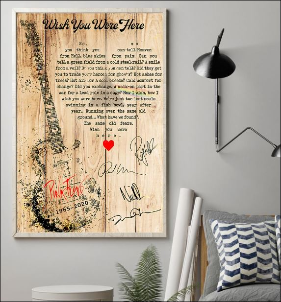 Wish you were here lyric Pink Floyd poster 1
