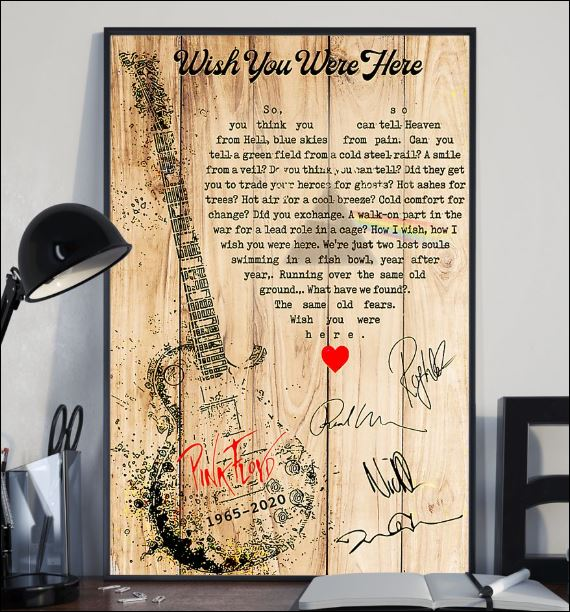 Wish you were here lyric Pink Floyd poster 2