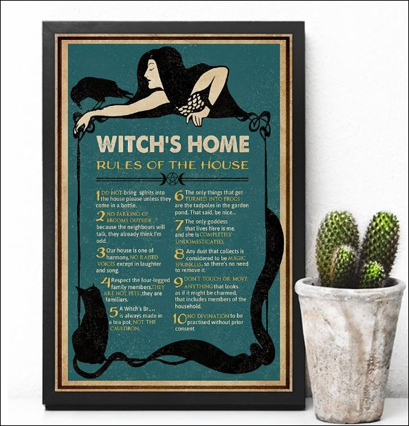 Witch's home rules of the house poster 2