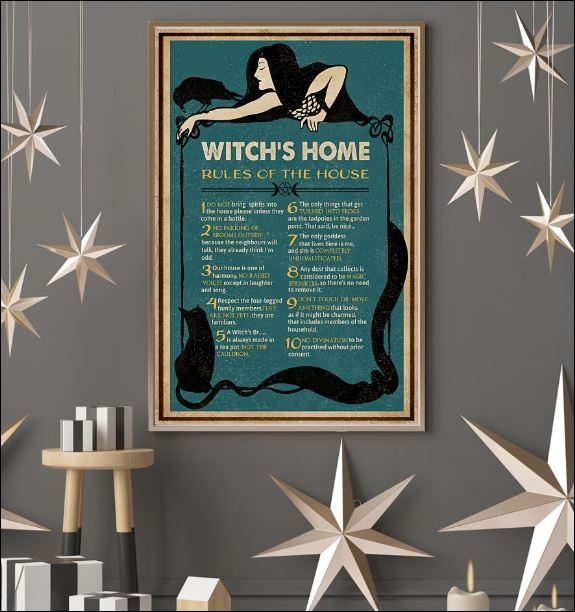 Witch's home rules of the house poster 3