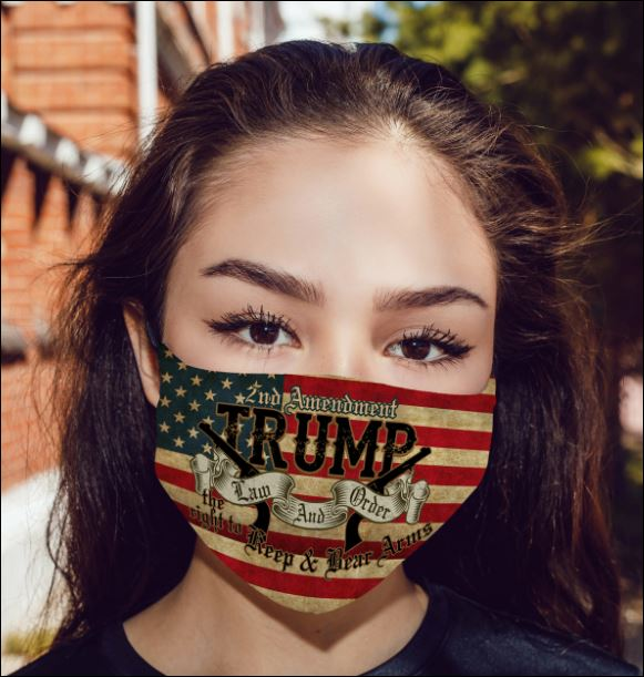 2nd Amendment Trump law and order face mask