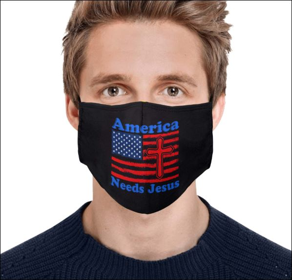 American needs Jesus face mask