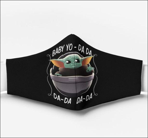 Baby Yoda da da da face mask
