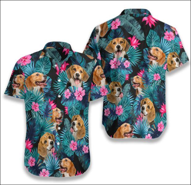 Beagle Tropical hawaiian shirt