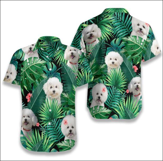 Bichon Frise Tropical hawaiian shirt