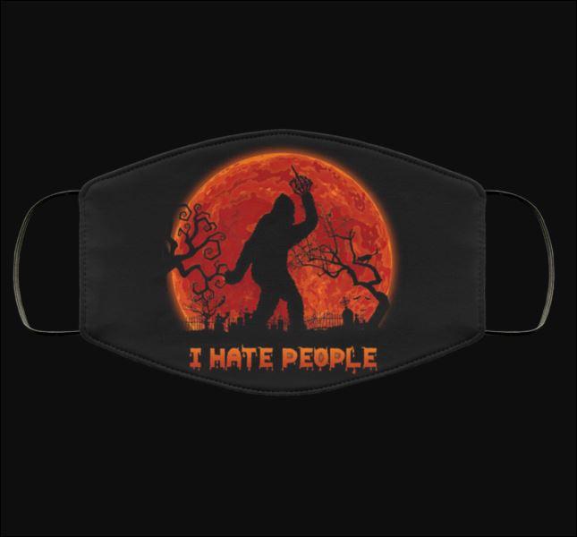 Bigfoot Halloween i hate people face mask