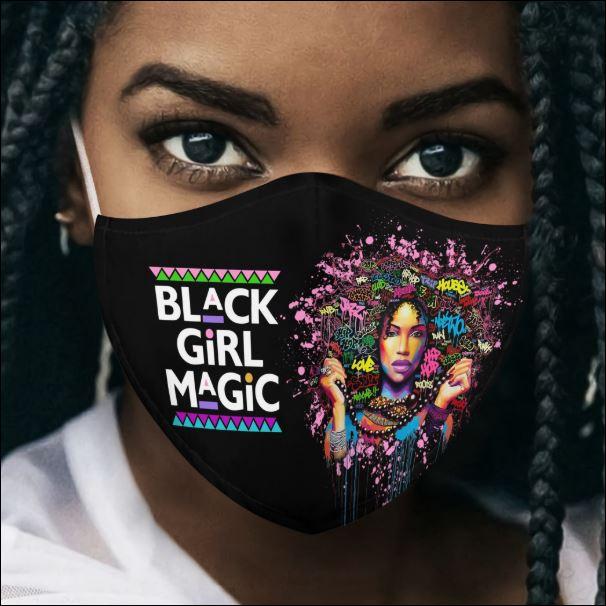 Black queen black girl magic face mask