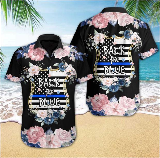 Black the blue hawaiian shirt