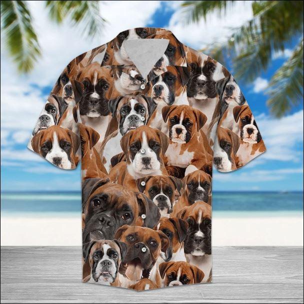 Boxer hawaiian shirt