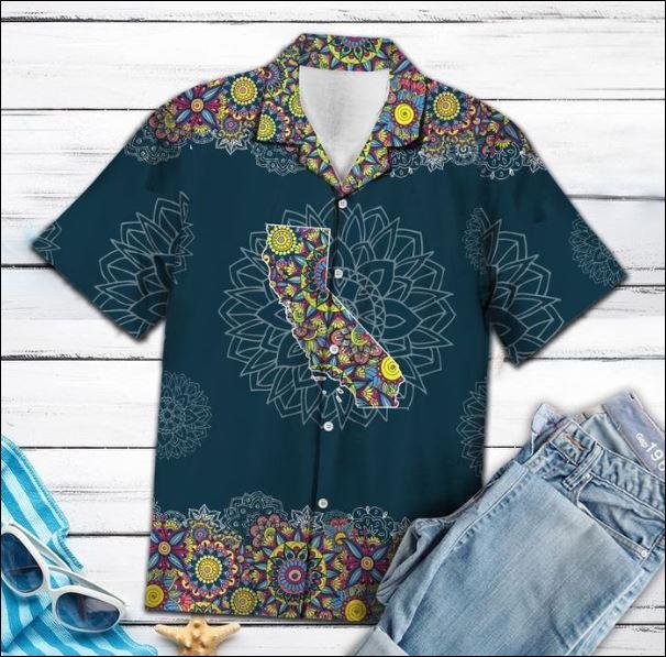 California Mandala hawaiian shirt