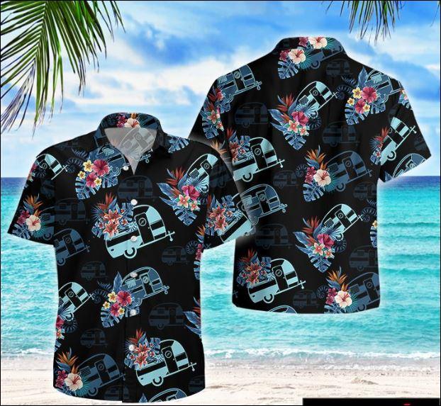 Camping tropical hawaiian shirt