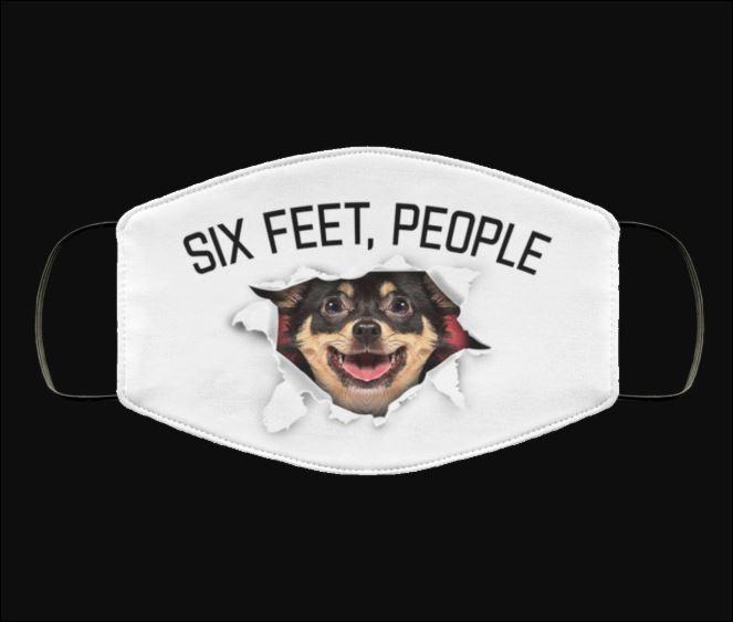 Chihuahua six feet people face mask
