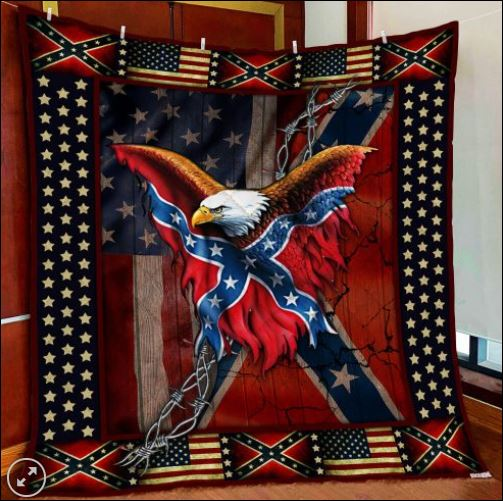 Confederate American history quilt