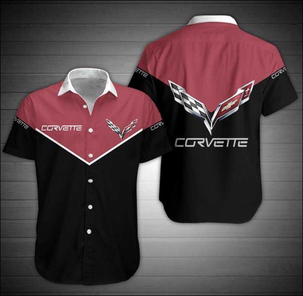 Corvette logo hawaiian shirt