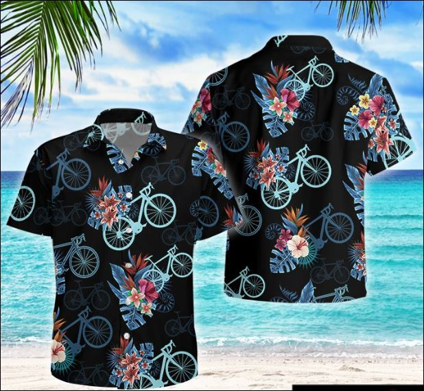 Cycling bike tropical hawaiian shirt