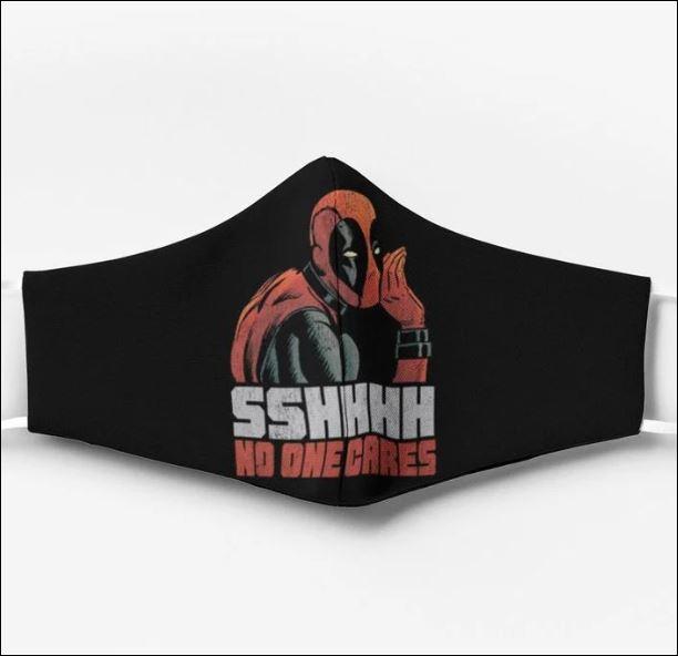 Deadpool sshhh no one cares face mask
