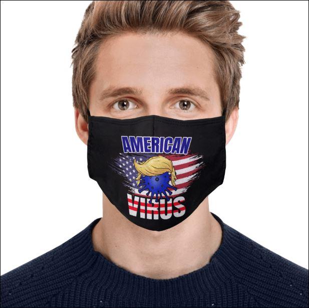 Donald Trump American virus face mask