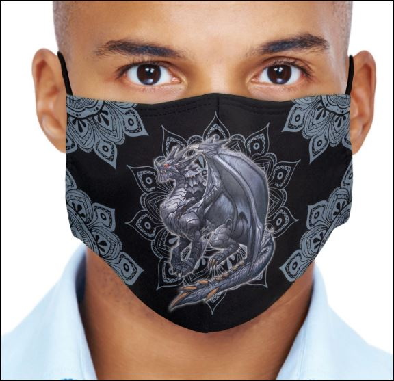 Dragon Mandala face mask