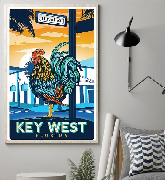 Duval St key west Florida poster 1