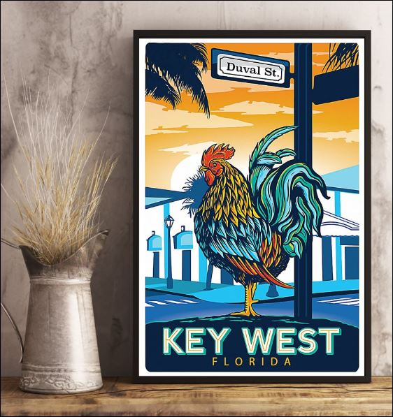 Duval St key west Florida poster 2