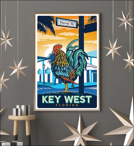 Duval St key west Florida poster 3