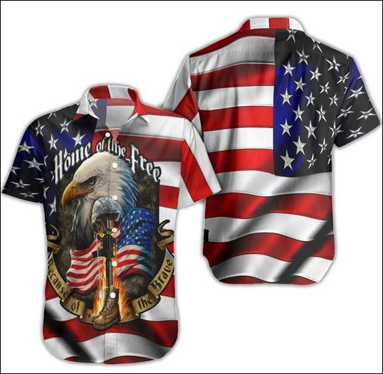 Eagle American home of the free hawaiian shirt