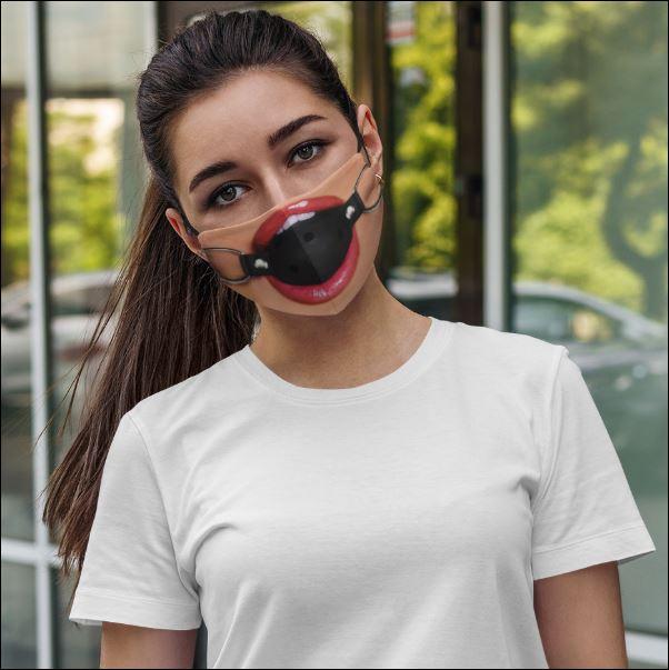 Erotic fetish ball gag face mask