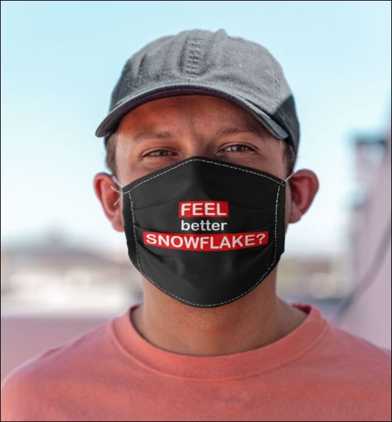 Feel better snowflake face mask