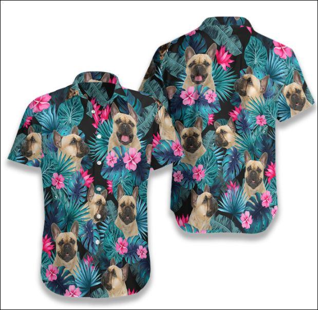 French Bulldog Tropical hawaiian shirt