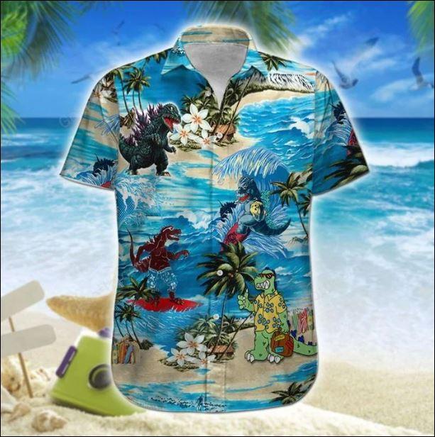 Godzilla hawaiian shirt