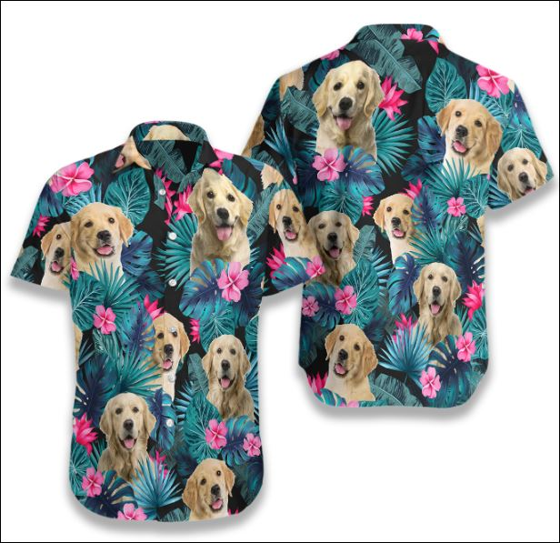 Golden Dog Tropical hawaiian shirt